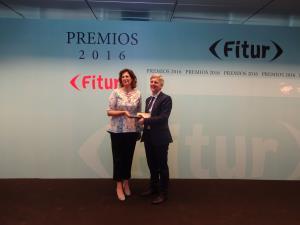 Rodríguez Osés ha recogido esta mañana el premio como mejor estand que se concedió a La Rioja durante la pasada edición de FITUR 2016