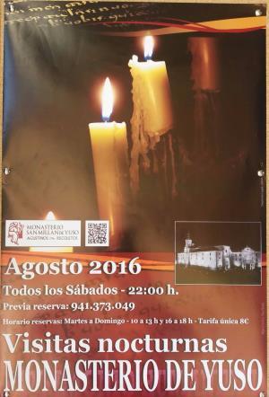 Visitas nocturnas al Monasterio de Yuso
