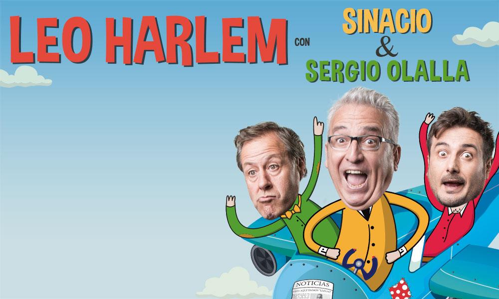 LEO HARLEM CON SINACIO & SERGIO OLALLA