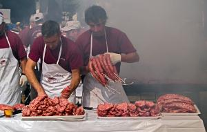 Festival del salchichón asado de Matute