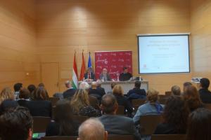 Eduardo Rodríguez Osés analiza en una jornada celebrada esta mañana la importancia del Camino de Santiago para el desarrollo turístico de La Rioja
