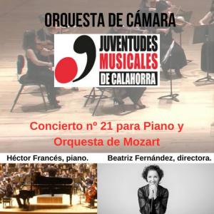 CONCIERTO ORQUESTA DE CÁMARA JUVENTUDES MUSICALES DE CALAHORRA