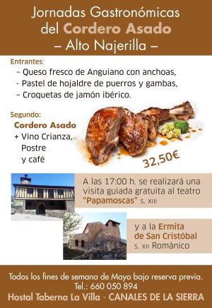 """Jornadas Gastronómicas del Cordero Asado """"Alto Najerilla"""""""