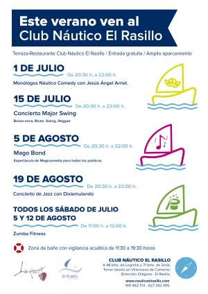Conciertos, actividades deportivas, espectáculos de magia en el Club Náutico El Rasillo