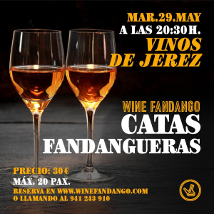 Programación de mayo en Wine Fandango