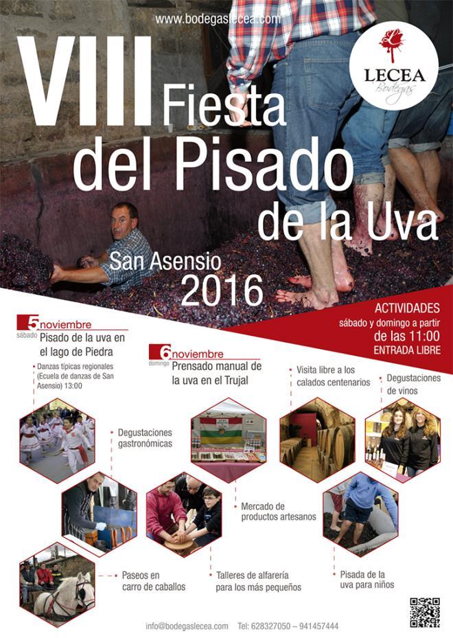 VIII Fiesta del Pisado de la Uva en Bodegas Lecea