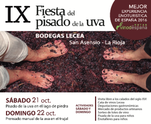 6th Grape Treading Festival in Bodegas Lecea