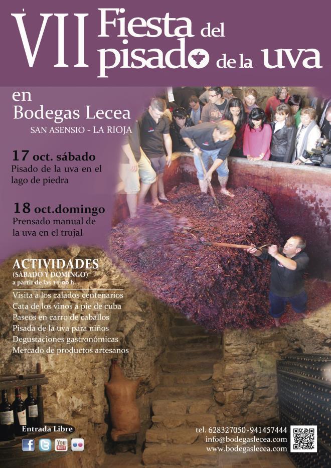 VII Fiesta del Pisado de la Uva en Bodegas Lecea