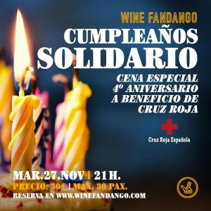 Cumpleaños solidario a beneficio de Cruz Roja