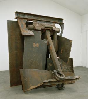 Las esculturas metálicas de Anthony Caro toman la bodega CVNE
