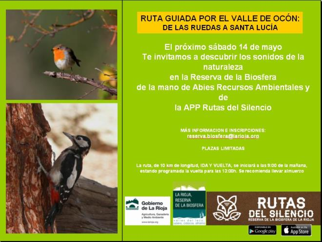 Paseo por el valle de Ocón dentro del programa Rutas del Silencio de la Reserva de la Biosfera