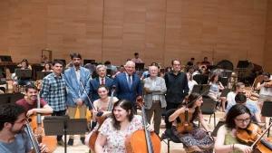 """Ceniceros destaca el """"trabajo"""" y el """"esfuerzo"""" de la Joven Orquesta Nacional de España"""