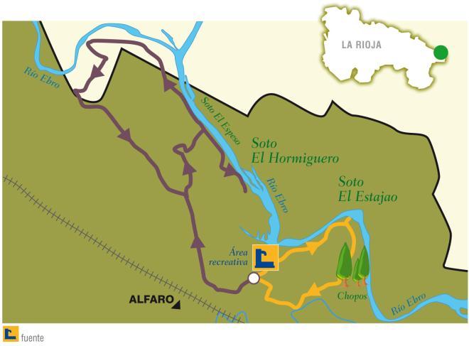 Ruta en BTT: Los sotos de Alfaro