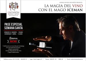 La magia del vino con el Mago Iceman en Ontañón