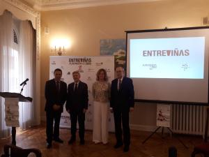 Rodríguez Osés ha participado en la presentación  de la XI Feria Entreviñas de Aldeanueva de Ebro