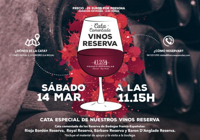 Curso cata de Reservas de Rioja