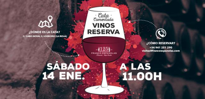 """""""Curso de introducción a la cata de vinos de Reserva"""" en Bodegas Franco-Españolas"""