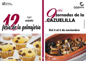9ª Jornadas de la Cazuelilla y 12ª Feria de la Golmajería
