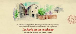 Cultura edita La Rioja en un cuaderno. Memoria visual de 22 artistas, sobre la muestra que acogerá el Museo de La Rioja a partir del 27 de abril