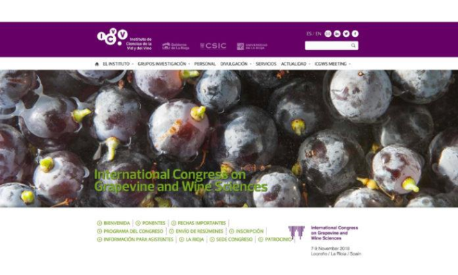 International Congress on Grapevine and Wine Sciences del 7 al 9 de noviembre en Logroño