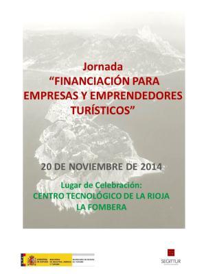 """Jornada  """"FINANCIACIÓN PARA EMPRESAS Y EMPRENDEDORES TURÍSTICOS"""""""