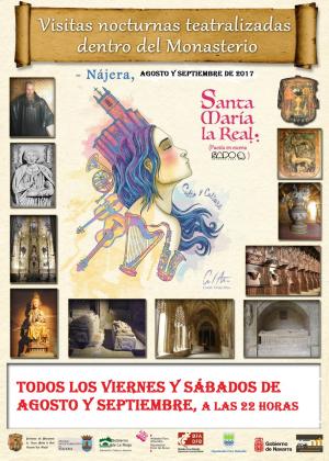 Visitas teatralizadas nocturnas en el monasterio de Santa María La Real de Nájera