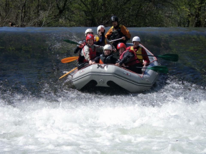 Rafting on the Iregua River