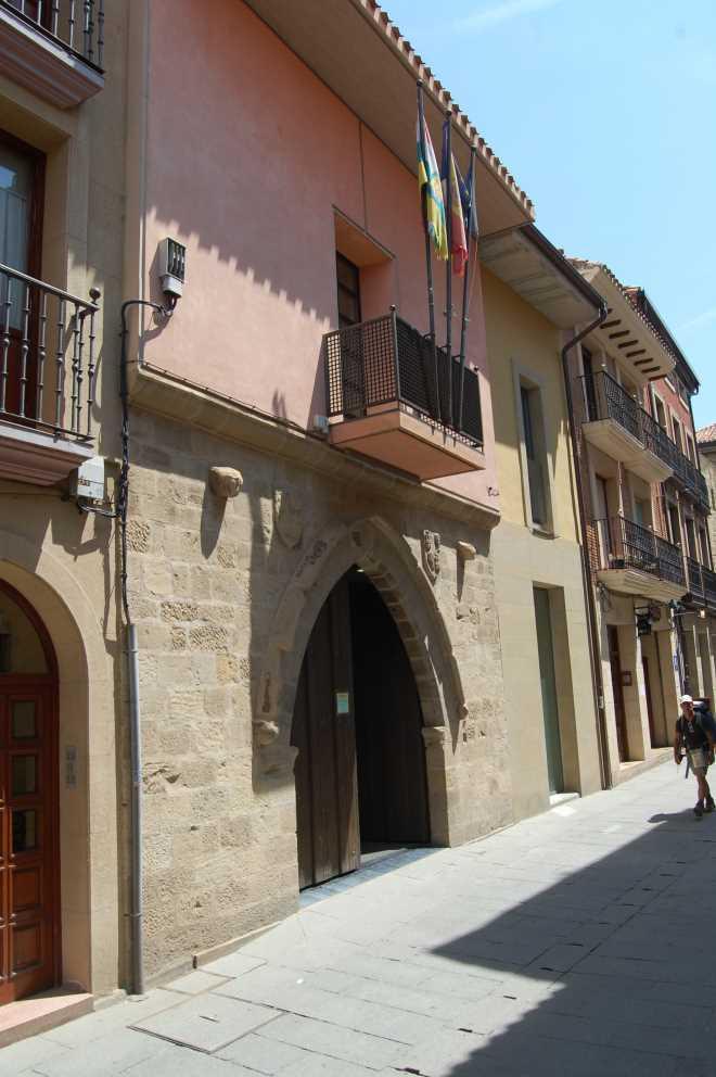 Casa de los Trastamara o Palacio del Obispo del Pino en Santo Domingo de la Calzada