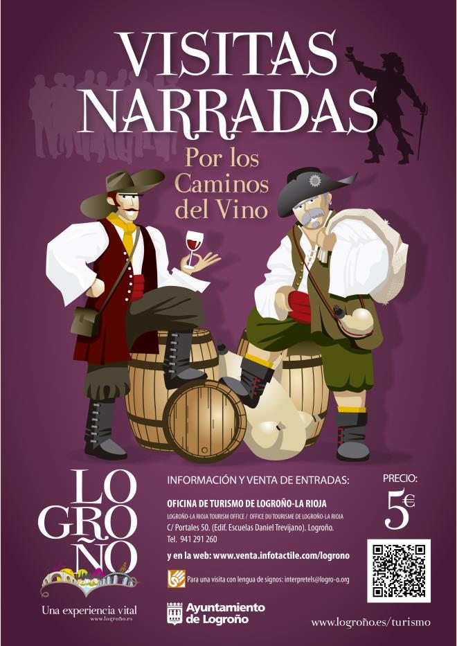 Visitas narradas por los caminos del vino de Logroño