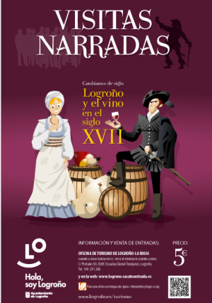 Visits narrated by Logroño's wine spaces