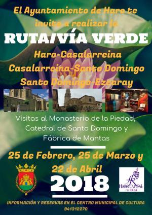 Ruta de la Vía Verde entre Santo Domingo de la Calzada y Ezcaray