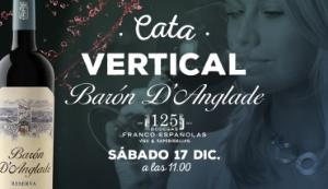 """Cata vertical del vino """"Barón d'Anglade Reserva Ed. limitada"""", una sola etiqueta y cuatro añadas diferentes."""