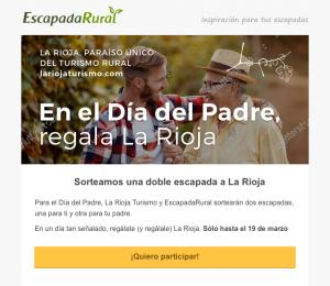 """La Rioja Turismo y Escapadarural.com lanzan la campaña """"En el Día del Padre, regala La Rioja"""""""