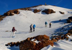 Raquetas de nieve en la sierra de La Demanda