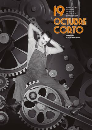 """El cartel del XIX Festival de Cine de Arnedo Octubre Corto incluye un fotograma de """"Tiempos Modernos"""" en homenaje a La Rioja Tierra Abierta"""