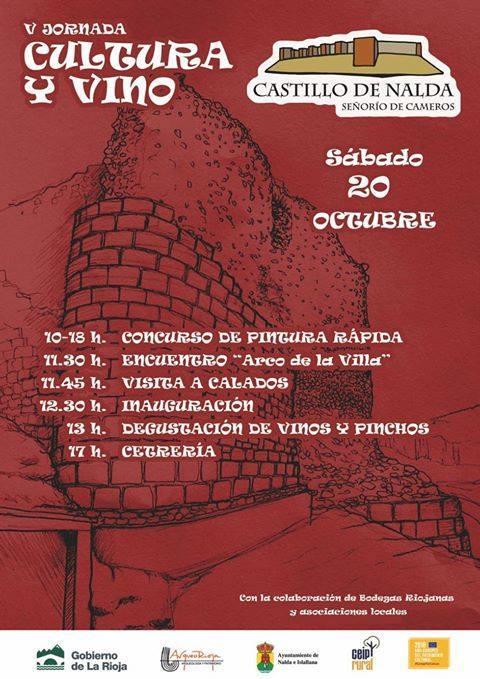 V jornada cultura y vino en el castillo de Nalda