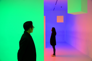 Chromosaturation, 1965/2017 del artista Carlos Cruz-Diez.