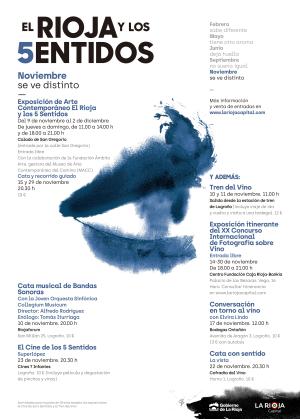 Actividades de noviembre en 'El Rioja y los 5 sentidos': la vista