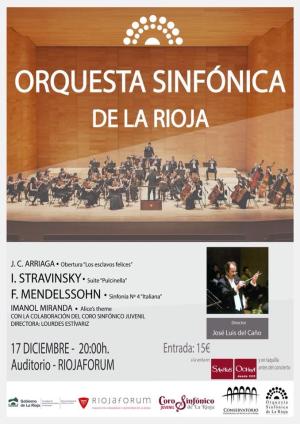 Concierto de Stravinsky interpretado por la Orquesta Sinfónica de La Rioja