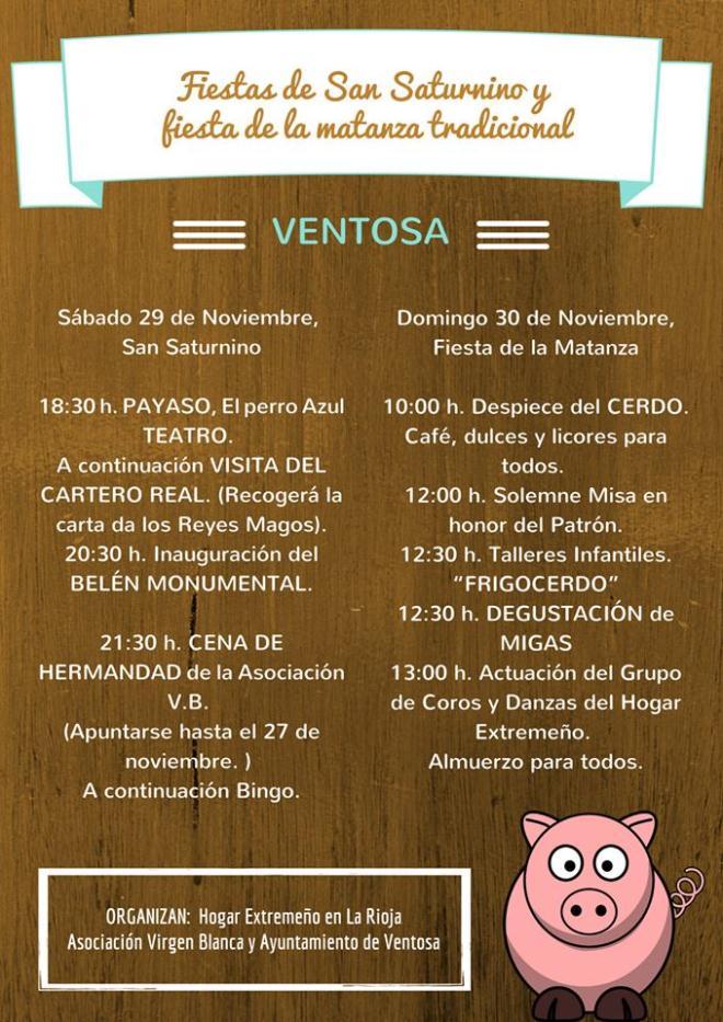 Festividad de San Saturnino y de la Fiesta de la Matanza Tradicional del Cerdo