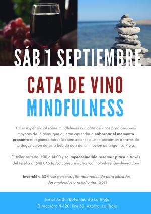 Taller experiencial sobre mindfulness con cata de vinos