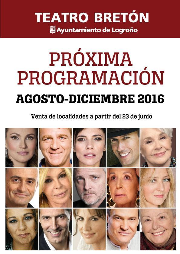 """Programación Teatro Bretón de los Herreros y 37 """"Festival de Teatro de Logroño"""""""