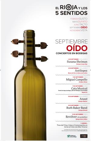 Actividades de septiembre en 'El Rioja y los 5 sentidos': el oído