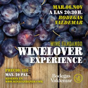 Winelover Experience con Bodegas Valdemar