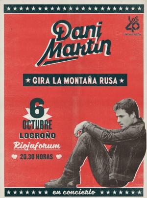 Dani Martín actúa hoy en Riojaforum con el aforo completo